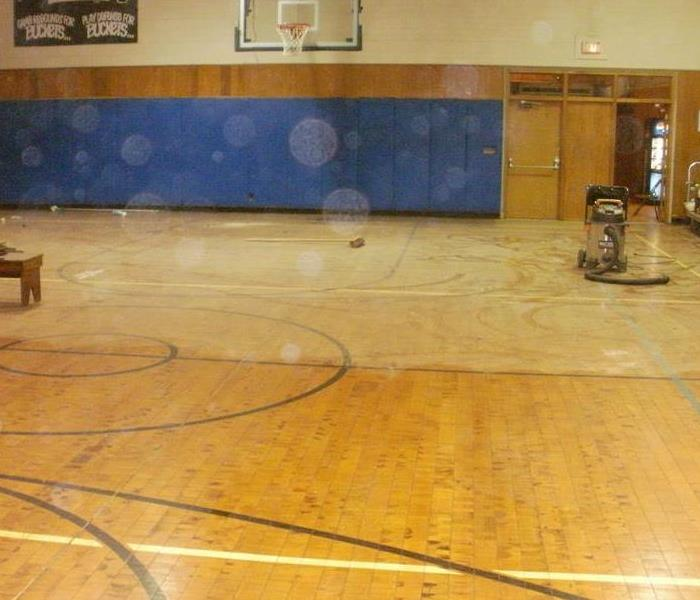 Damaged flooring in Gymnasium After