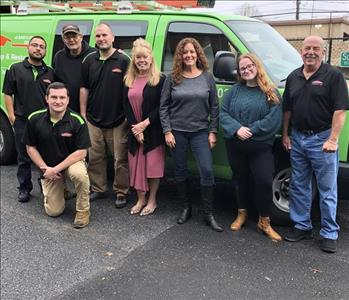 Pictured is the crew at SERVPRO of Babylon/Deer Park