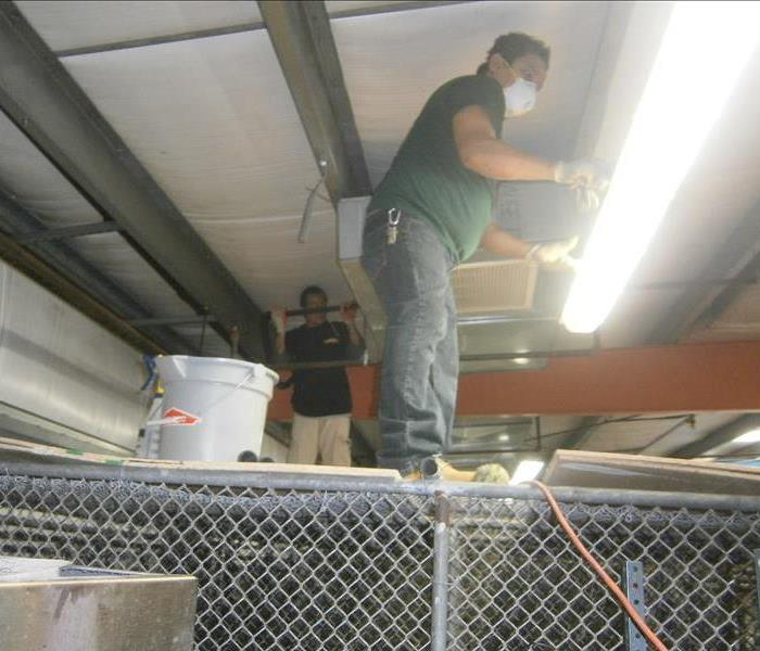 SERVPRO crew going above and beyond