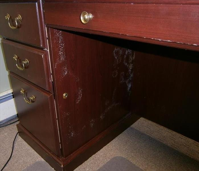 Desk with mold